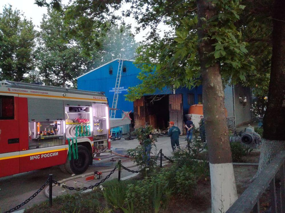 Пожар в морском университете Новороссийска