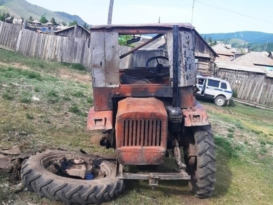 В одном из сел Тувы погиб тракторист – не справился с рулем