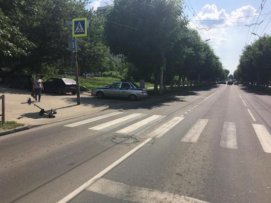 В центре Рязани сбили пенсионера на электросамокате