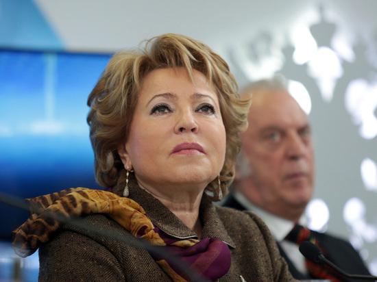Матвиенко назвала «головотяпством» действия полицейских при задержании Голунова