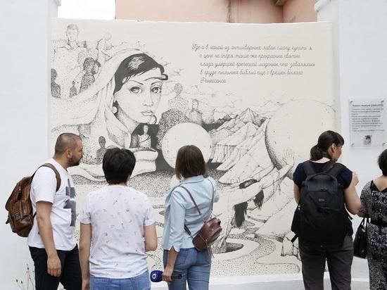 В центре Улан-Удэ появились стихи Намжила Нимбуева