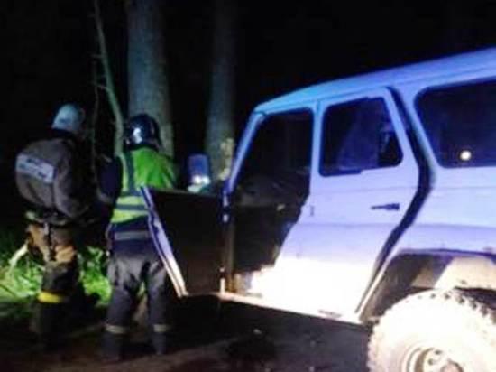 В Калуге УАЗик на скорости влетел в дерево