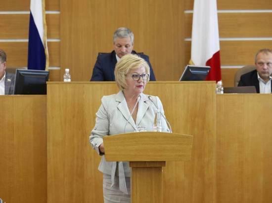 Валентина Артамонова доложила об исполнении бюджета Вологодской области