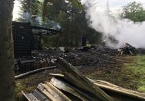 В коллективном саду Свердловской области при пожаре погибли двое взрослых и ребенок