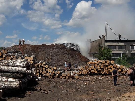 В Новокузнецке загорелась фанерная фабрика