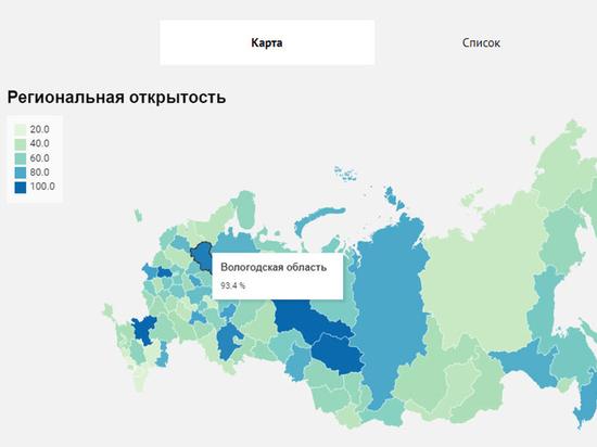 Вологодская область признана одним из самых информационно открытых регионов России