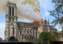 Кадры горящего Нотр-Дам-де-Пари, снятые 15 апреля, облетели весь мир