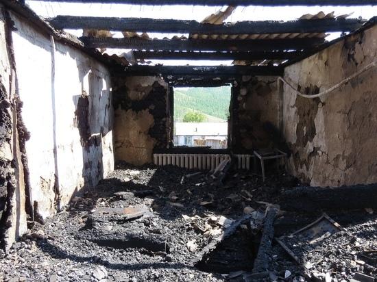 Причиной пожара в доме двух семей  села  Ильинка (Тува)  могло стать пьянство супругов
