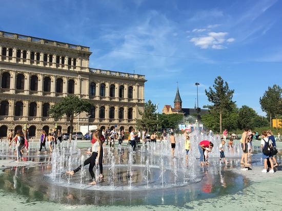 В Калининграде фонтан в Биржевом сквере останется без музыки