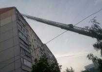 Женщину на пожаре в Туле пришлось выволакивать из огня силой