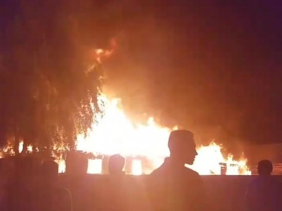 Дом цыган сгорел в соседнем с Чемодановкой селе