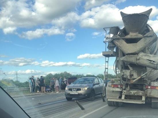 В Рязани из-за аварии на Северной окружной образовалась пробка