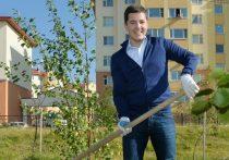 Губернатор Ямала взял в руки лопату и посадил дерево