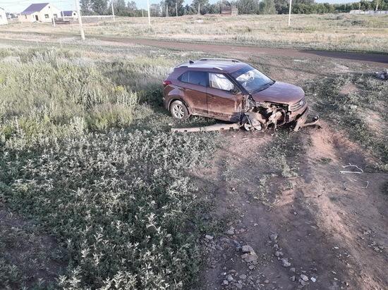 В Саракташском районе молодая автоледи вылетела в кювет