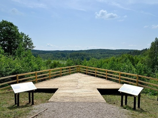 В Калининградской области открыли смотровую площадку на долину истоков реки Синяя