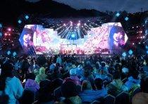 Ежегодный Международный музыкальный фестиваль Star of Asia Almaty 2019 прошел на высокогорном катке «Медеу»