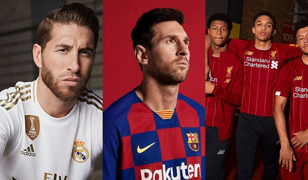 Шашечки, стадионы и история: как топ-клубы Европы обновили свои формы?