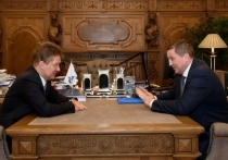 Андрей Бочаров и Алексей Миллер встретились в Санкт-Петербурге