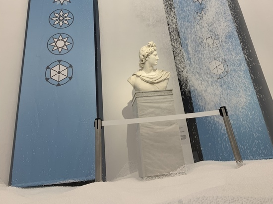 В Царицыно выпал снег