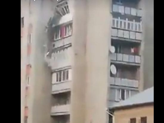 Опубликовано видео обрушения части жилого дома в Молдавии