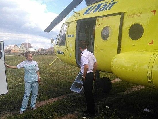 Вертолет спас жителя Омской области после инфаркта