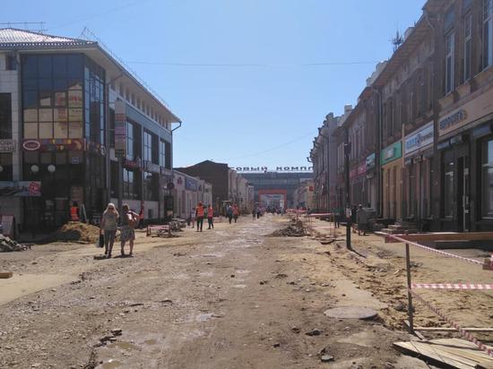 Улицу Урицкого в Иркутске благоустроят к сентябрю