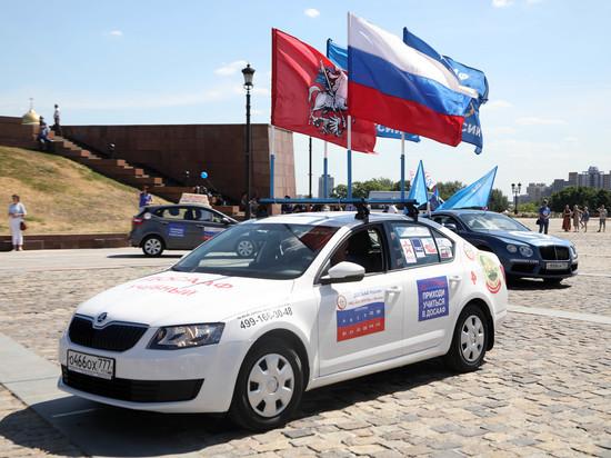 Автопробег ДОСААФ «Москва - Брест» стартовал на Поклонной горе