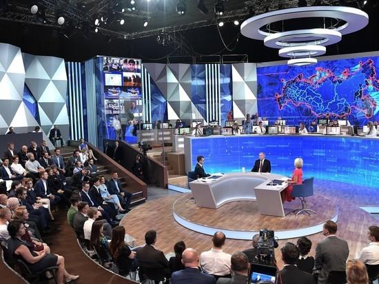 На прямой линии Путина возникли не уважающие власть