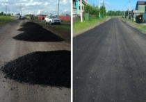 Житель поселка Инской Беловского района привлек собственные средства, чтобы покрыть асфальтом дорогу