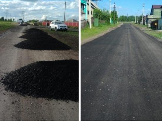 Кузбассовец своими силами заасфальтировал дорогу в поселке