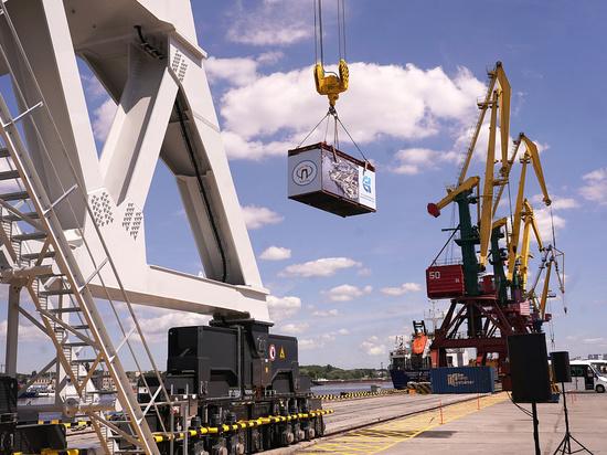 В порту Калининграда установили новый портальный кран