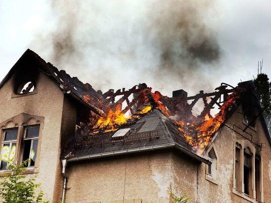 В Советске минувшей ночью горел жилой дом