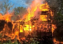 В Кимрах Тверской области сгорел дом в стиле модерн
