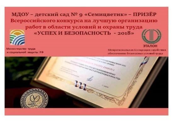 Детский сад Серпухова стал призером конкурса «Успех и безопасность»