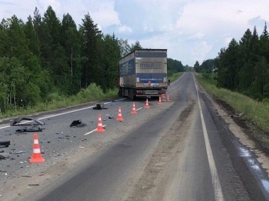 Под Нижнеудинском в столкновении с грузовиком погиб водитель легковушки