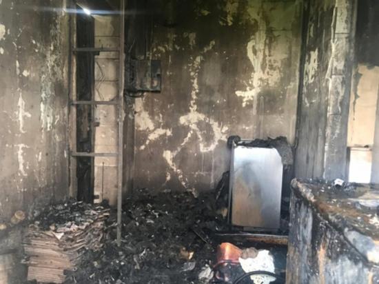 В Смоленском районе чуть не сгорел двухэтажный жилой дом