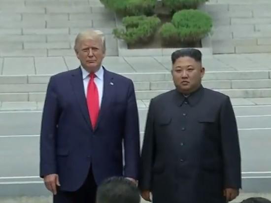 В демилитаризованной зоне состоялась встреча Трампа и Ким Чен Ына