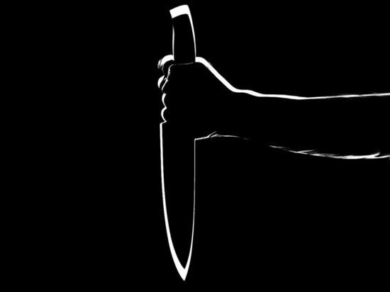 Достал нож и нанес несколько ударов