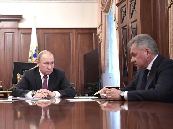 Кремль сообщил о срочной встрече Путина с Шойгу