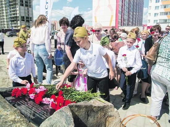 Жители жилмассива заложили камень в основание будущего мемориального комплекса