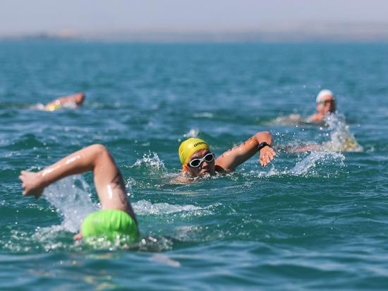 На Капшагае прошел «Заплыв «Алматы марафона»
