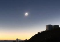 Аргентинские пилоты выложили видео солнечного затмения с борта самолёта