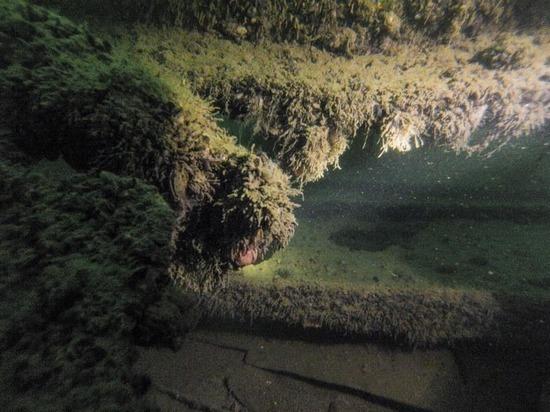 Калининградские драйверы обнаружили в Балтийском море затонувшую в 20 веке баржу