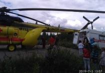 Трёх жителей Карелии в тяжелом состоянии эвакуировали на вертолёте