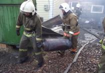 В Хакасии при пожаре удалось избежать взрыва
