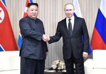 В КНДР выпустили марки, изображающие Путина и Ким Чен Ына