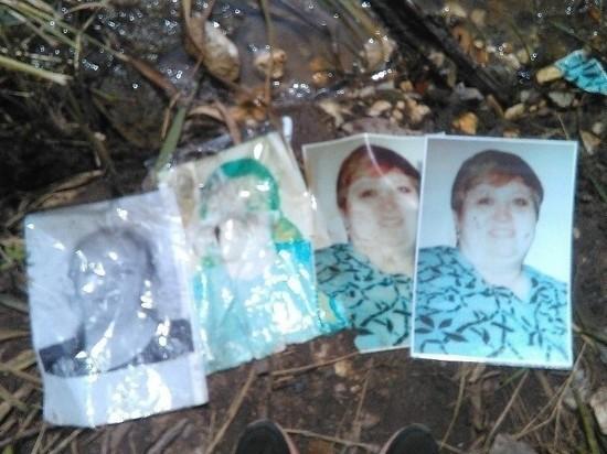 Неуловимые вандалы на подмосковном кладбище утопили портреты покойников