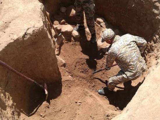 У поселка Медянка найдены останки сотни красноармейцем