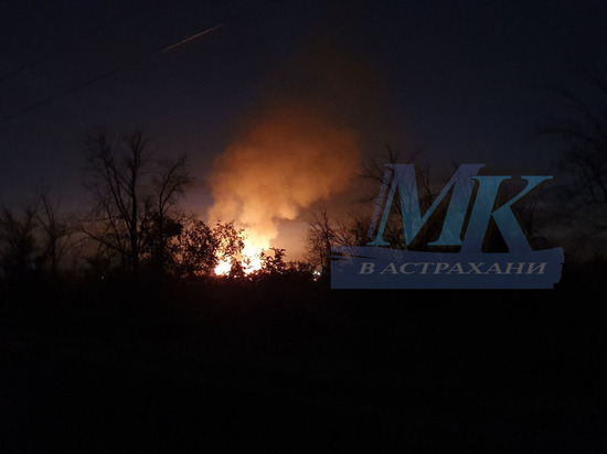 В Астрахани горит Тополиная роща