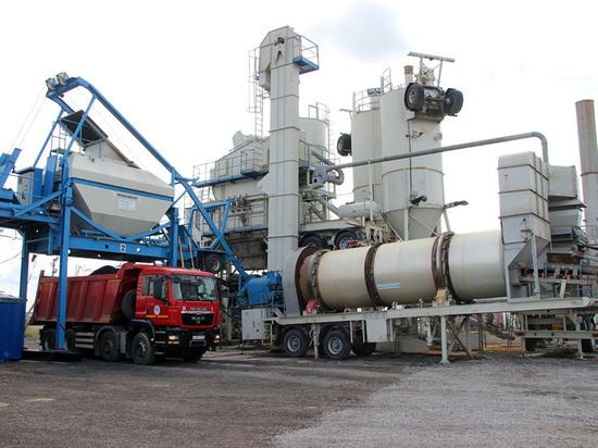 В Липецкой области запустили экологичный асфальтобетонный завод
